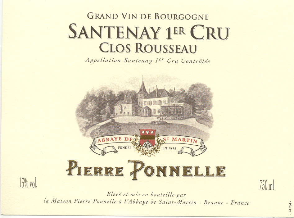 Santenay 1er Cru «Clos Rousseau»