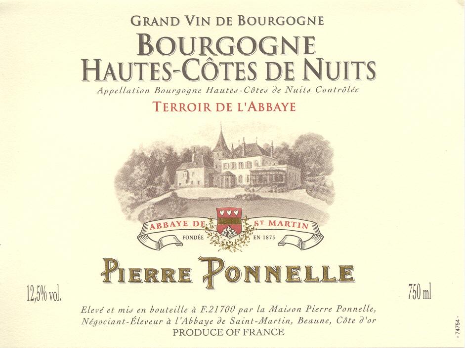 Bourgogne Hautes Côtes de Nuits – Terroir de l'Abbaye
